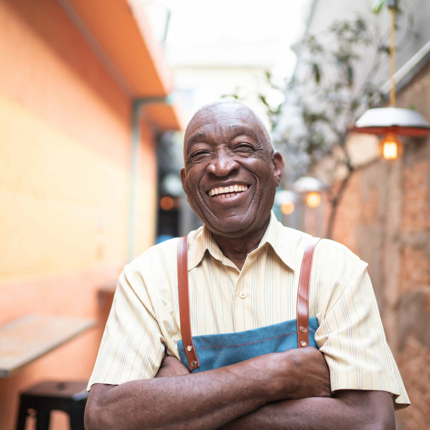 Smiling Business Owner - over 50 or owners of color